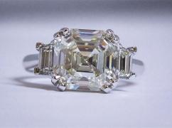 5 Carat Asscher Cut Diamond Ring
