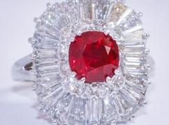 Burma Ruby Diamond Ring